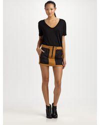 Alexander Wang | Yellow Utility Miniskirt | Lyst