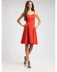 Carolina Herrera | Orange Cotton Dress | Lyst