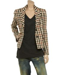 Daks Natural Checked Woolblend Jacket