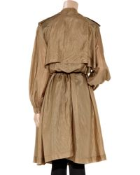 Lanvin - Natural Washed Silk-taffeta Trench Coat - Lyst