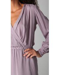 Parker - Purple Long Sleeve Dress - Lyst