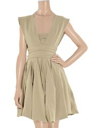 Preen By Thornton Bregazzi | Natural Audrey Twill Dress | Lyst
