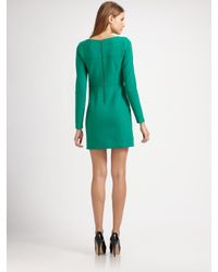 Shoshanna - Green Long Sleeve Dress - Lyst