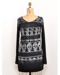 Simeon Farrar | Long Sleeved Black Knit T Shirt Dress By | Lyst
