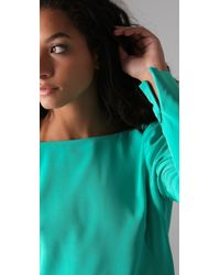 Tibi - Blue Long Sleeve Shift Dress - Lyst