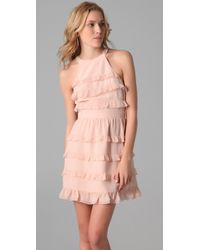 Tibi | Pink Ruffle Dress | Lyst