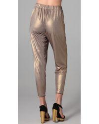Tibi - Metallic Jersey Easy Pant - Lyst
