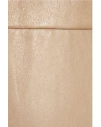 3.1 Phillip Lim Natural Leather and Silkchiffon Dress