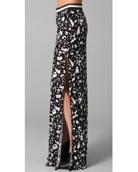 Cut25 by Yigal Azrouël Black Long Skirt with Slit