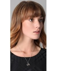Juicy Couture - Metallic Yes No Spinner Necklace - Lyst