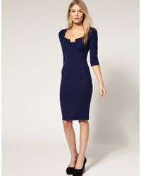 ASOS Collection - Blue Asos Petite Exclusive Dress with Bust Detail - Lyst