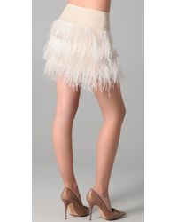 By Malene Birger - Natural Alexandrie Feather Skirt - Lyst