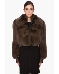 Givenchy | Brown Fox Fur Jacket | Lyst
