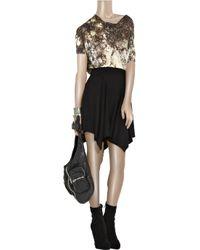 Helmut Lang Black Handkerchief-hem Wool-jersey Skirt