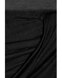 Helmut Lang - Black Side Split Jersey Maxi Skirt - Lyst