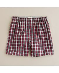 J.Crew - Holiday Red Tartan Boxers for Men - Lyst