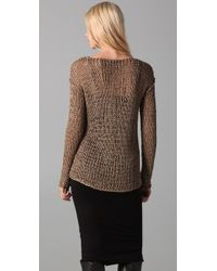Kelly Bergin - Brown Chainmail Pullover - Lyst