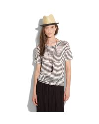 Madewell | Gray Striped Ferry Tee | Lyst