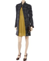 Marni Black Pimpernel Blossom Jacquard Double Breasted Coat