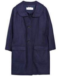 See By Chloé Blue Wool-blend Coat
