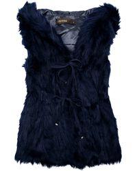 SuperTrash | Black Hooded Faux Fur Vest | Lyst