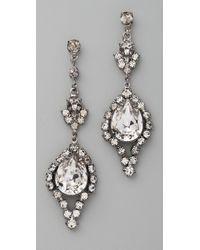 Tom Binns Metallic Dumont Crystal Teardrop Earrings