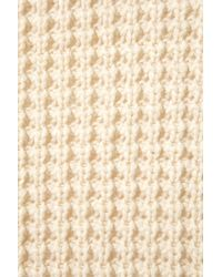 TOPSHOP | Natural Knitted Waffle Stitch Cardi | Lyst
