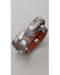 Tory Burch | Metallic Double Wrap Logo Bracelet | Lyst