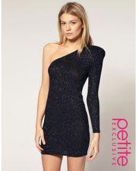 ASOS Collection - Blue Asos Petite Exclusive Bodycon Dress - Lyst
