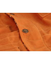Filson Orange Fisherman Parka Jacket for men