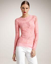Jean Paul Gaultier | Pink Lace Top | Lyst
