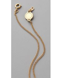 Marc By Marc Jacobs Metallic Mini Charm Tiny Bow Pendant Necklace