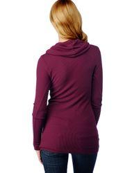Splendid - Purple Thermal Cowl Neck Tunic - Lyst
