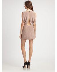 Wren | Purple Open-back Silk Dress | Lyst