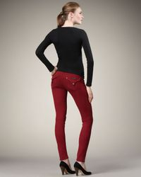 Hudson Jeans | Red Collin Scarlet Skinny Jeans | Lyst