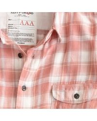 J.Crew | Pink Kato` / Aaa Flannel Check Shirt for Men | Lyst