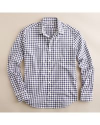 J.Crew | Blue Washed Thomas Mason® Fabric Point-collar Slim-fit Shirt in Open Tattersall for Men | Lyst