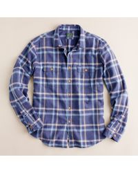 J.Crew | Blue Vintage Flannel Shirt in Cold Bay Plaid for Men | Lyst