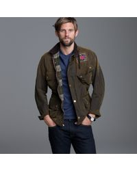 J.Crew | Green Barbour® 75th Anniversary Distressed International Jacket for Men | Lyst
