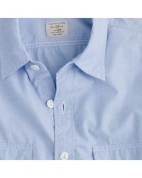 J.Crew | Blue End-on-end Utility Shirt with Pockets for Men | Lyst