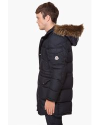 Moncler | Blue Jeanbart Quilted Shell Hooded Down Jacket for Men | Lyst