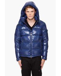 Moncler - Blue Hooded Maya Jacket for Men - Lyst