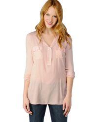 Splendid | Pink The Essential Shirt | Lyst