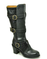 Fiorentini + Baker | Billie - Black Leather Buckle Boot | Lyst
