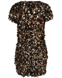 TOPSHOP Metallic Spikey Embellished Playsuit By Dress Up