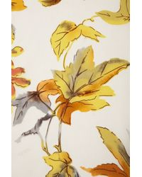 TOPSHOP Natural Leaves Silk Shirt By Boutique