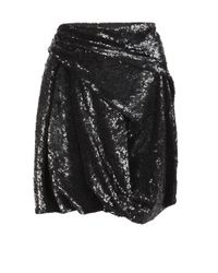 AllSaints - Black Velutina Skirt - Lyst