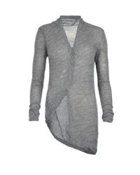 AllSaints - Gray Raff Cardigan - Lyst
