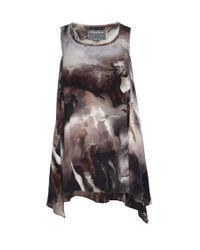 AllSaints - Multicolor Stallion Silk Vest - Lyst