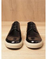 Dries Van Noten Black Dries Van Noten Mens Leather Toe Cap Sneakers for men